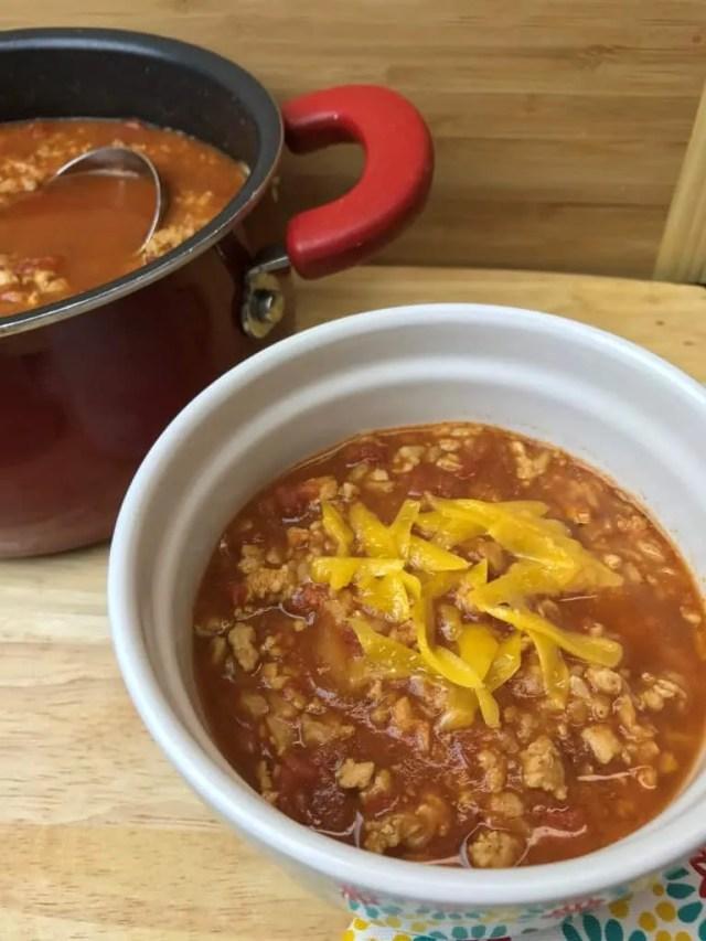 Turkey & Rice Chili without Beans (THM-E)
