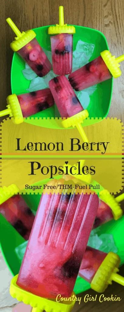 Lemon Berry Popsicles (Sugar-free/THM Fuel Pull)