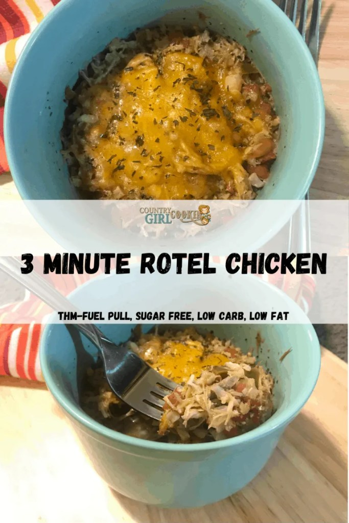 3 Minute Rotel Chicken (THM-Fuel Pull, Low Carb, Low Fat)