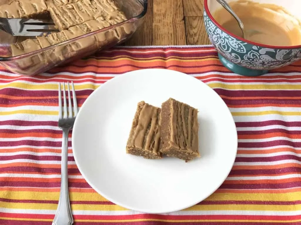 Peanut Butter Bars (THM-S, Sugar Free, Low Carb)
