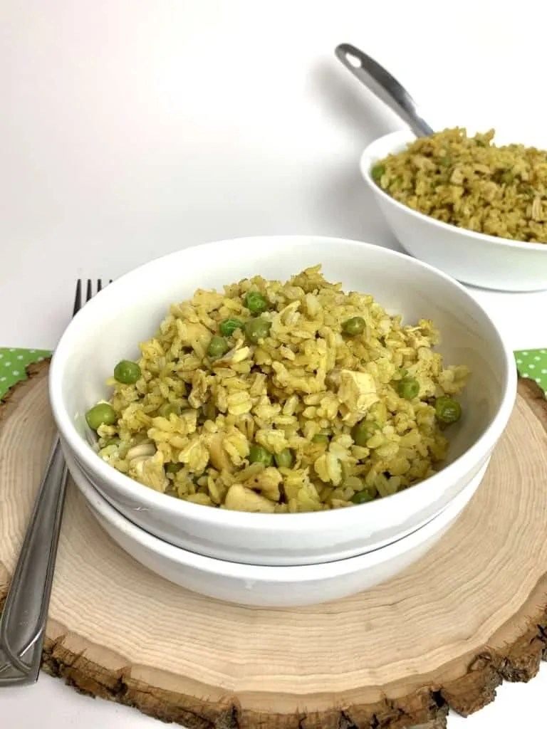 Instant Pot Curried Chicken and Brown Rice (Low Fat, THM-E)