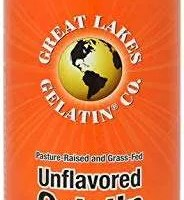 Great Lakes Gelatin, Pure Unflavored Protein, Kosher Beef Gelatin, 16 Ounce Can