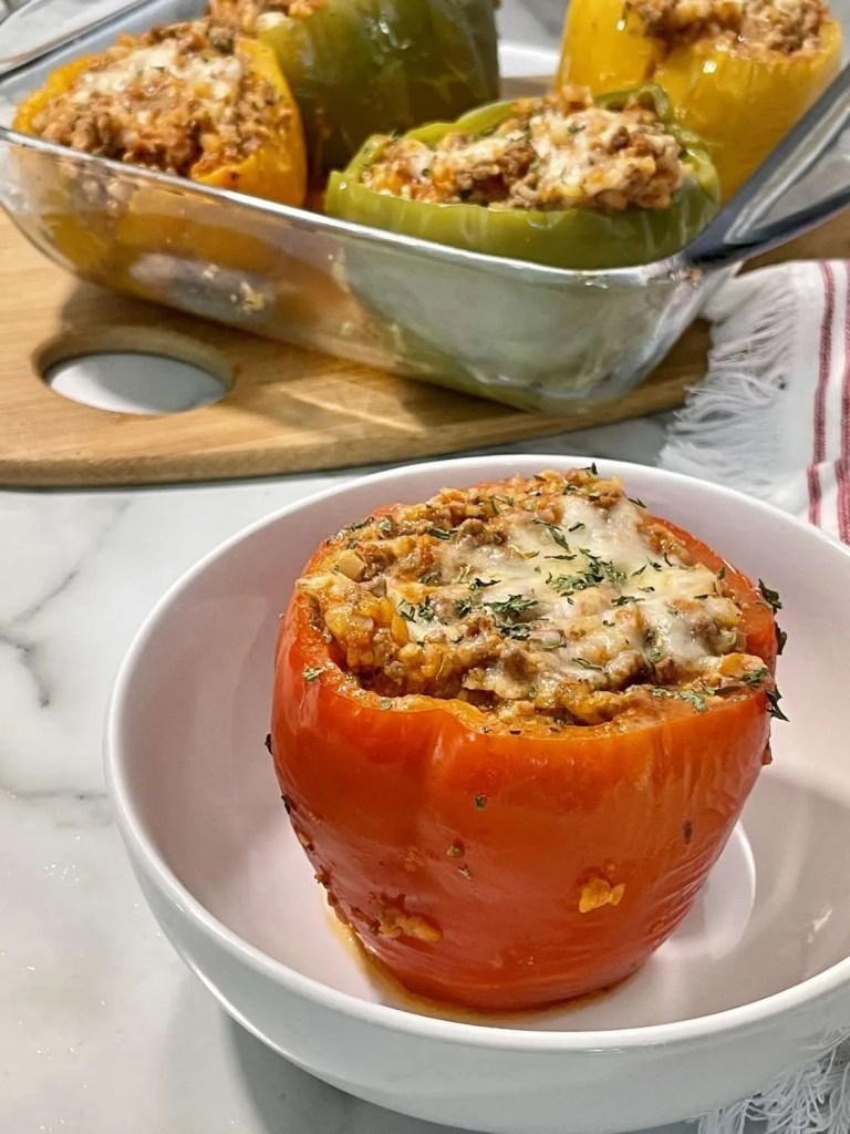 Instant Pot Low Carb Stuffed Peppers (THM-S)