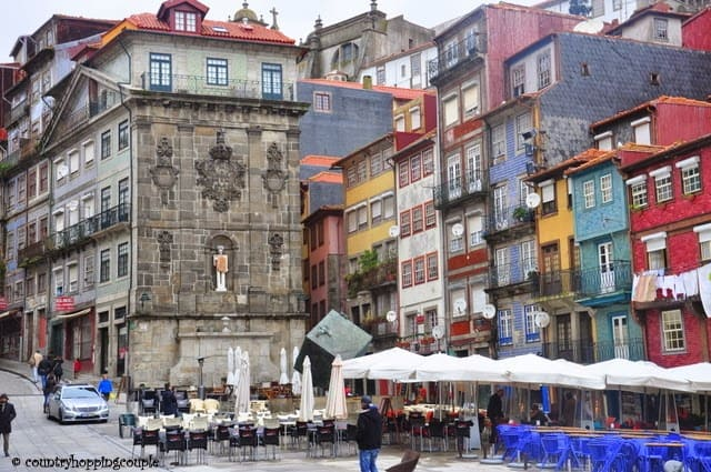 Ribeira Buildings Unesco Postcard Porto