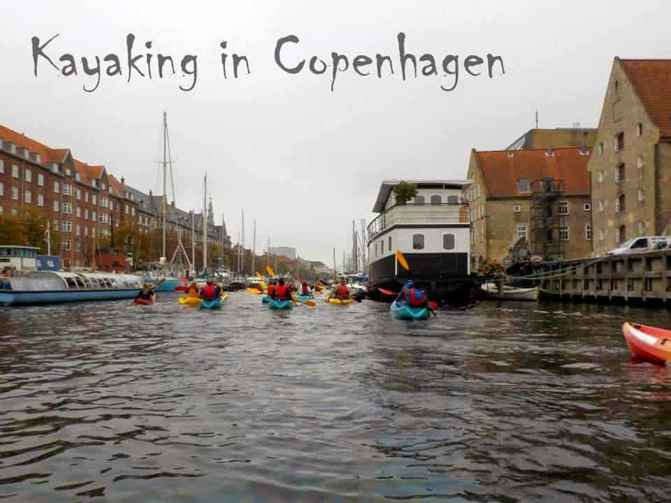 Kayaking through Copenhagen canals, a great way to do city sightseeing!