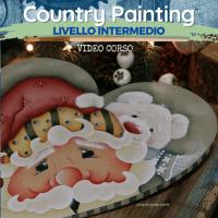 Santa & Bear -Video Corso di Country Painting