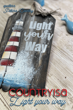 Light your Way- cartamodello di country painting