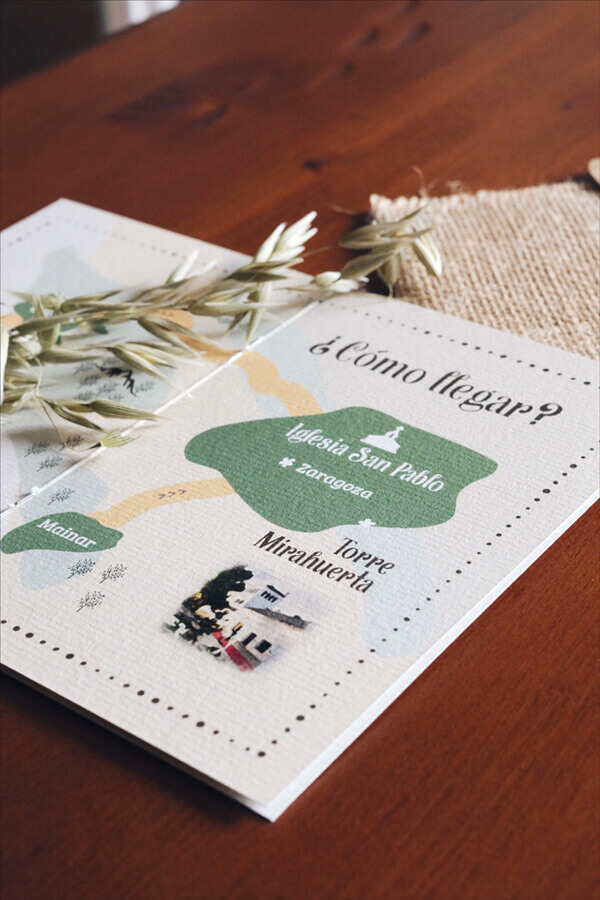Invitaciones de boda campestres Torre Mirahuerta