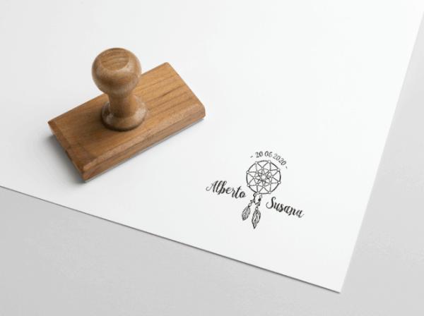 sello personalizado atrapasueños boho