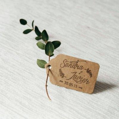 Sello de boda ramas eucalipto