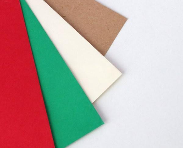Sobres para bodas y eventos, kraft, blanco, verde y rojo