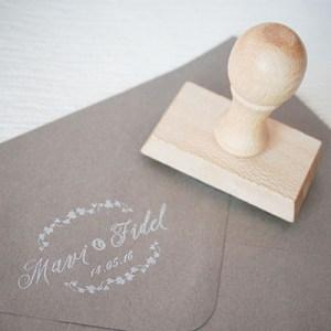 sello de boda hiedra