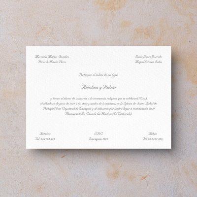 Invitación de boda clásica