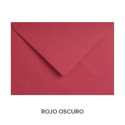 sobres de colores económicos rojo oscuro