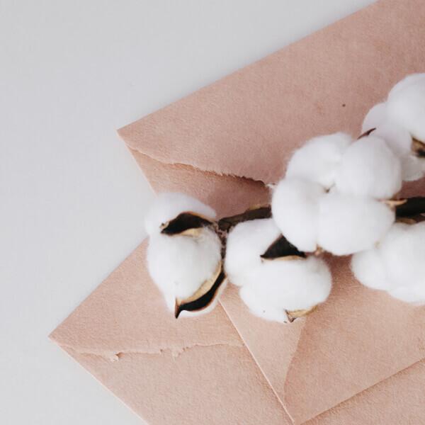Sobres artesanales algodón