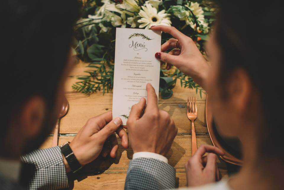 Minuta de boda campestre
