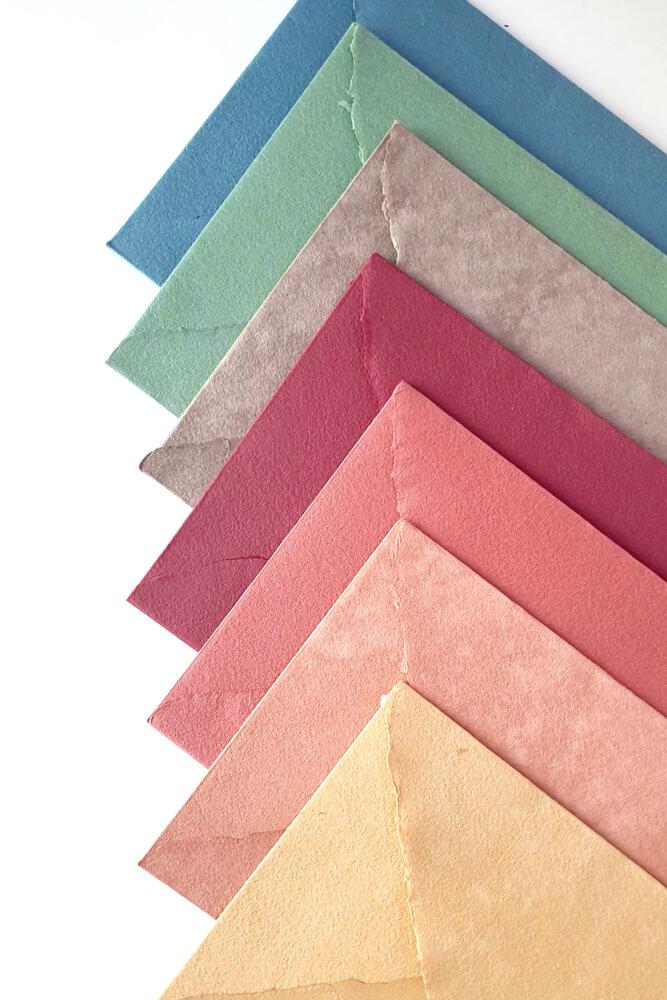 sobres artesanales colores