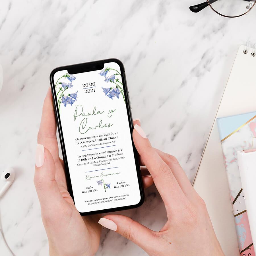 Invitaciones digitales de estilo floral