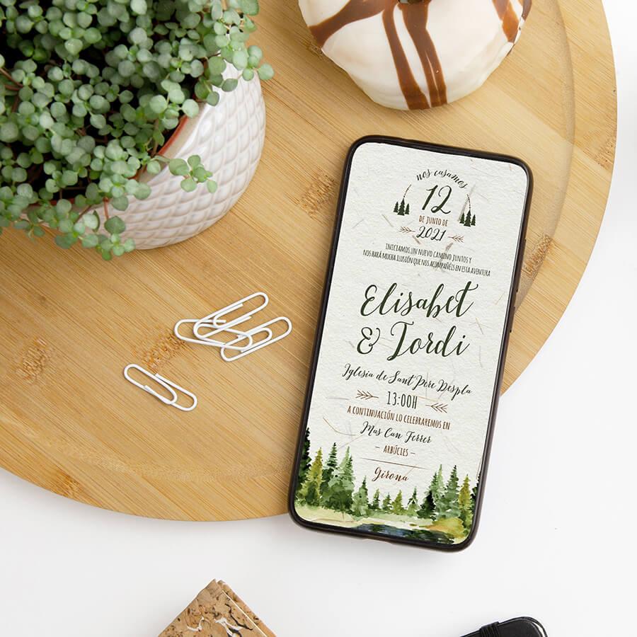 Invitaciones digitales de estilo campestre