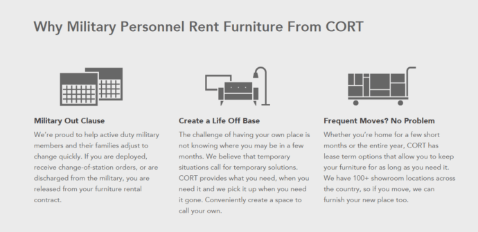 CORT Military Furniture Rental