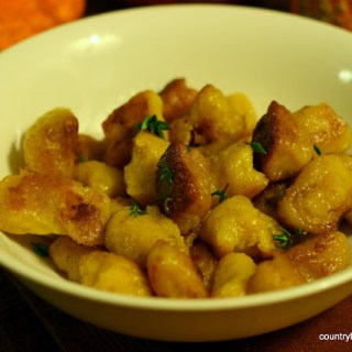 {Recipe} Twice Cooked Pumpkin Gnocchi