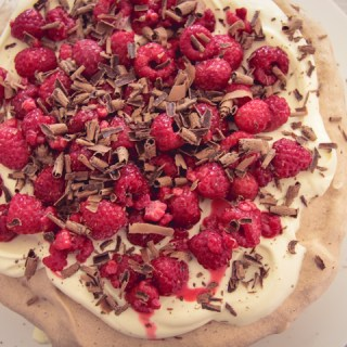 Chocolate Raspberry Pavlova