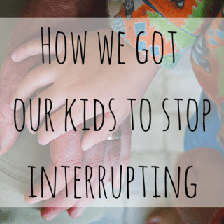 How To Get Kids To Stop Interrupting