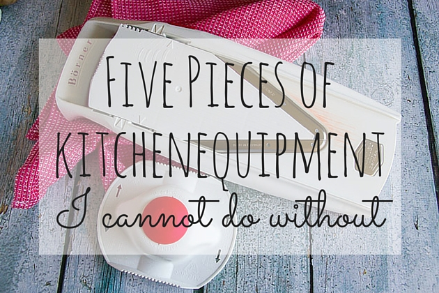 5 pieces of kitchen equipment