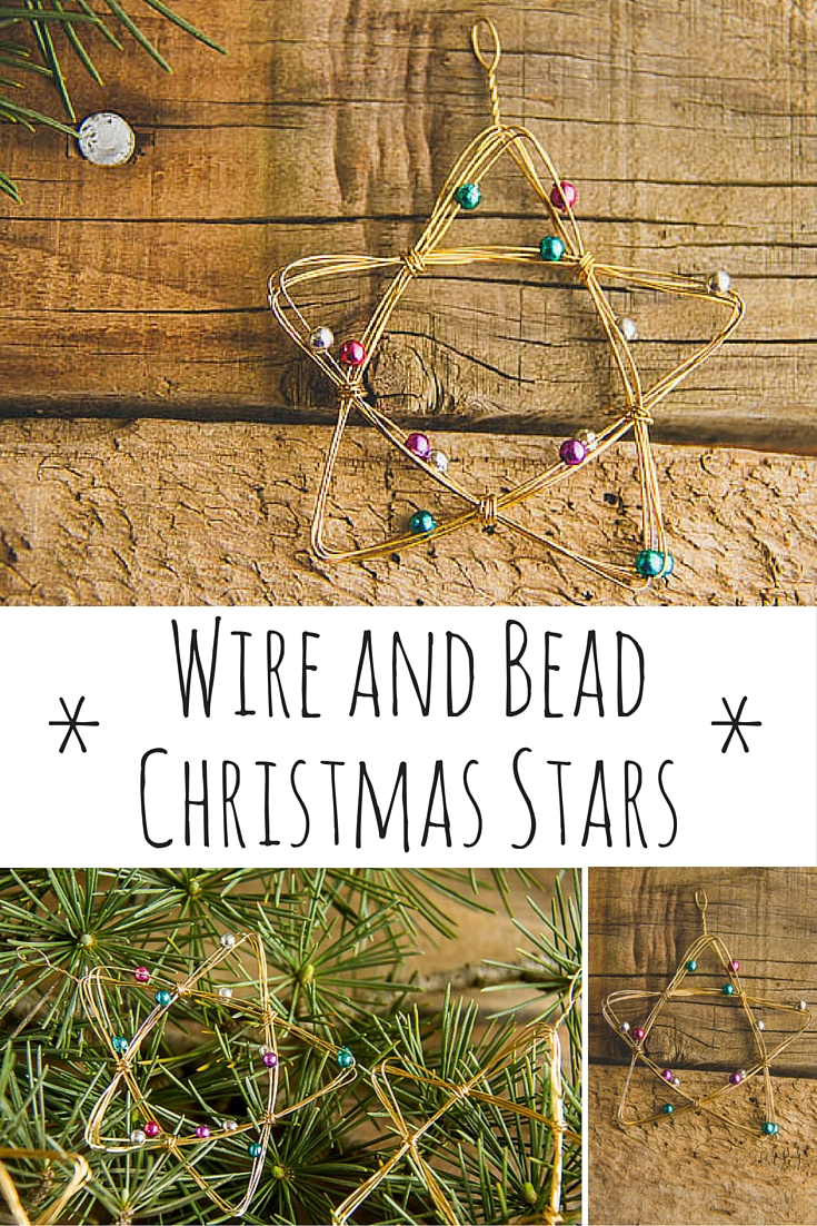 WIRE AND BEAD CHRISTMAS STARS (2)