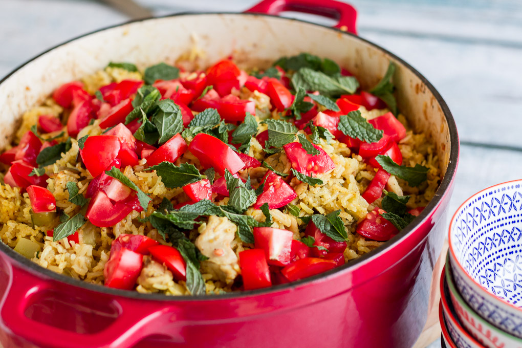 Curried Chicken and Vegetable Pilaf-3