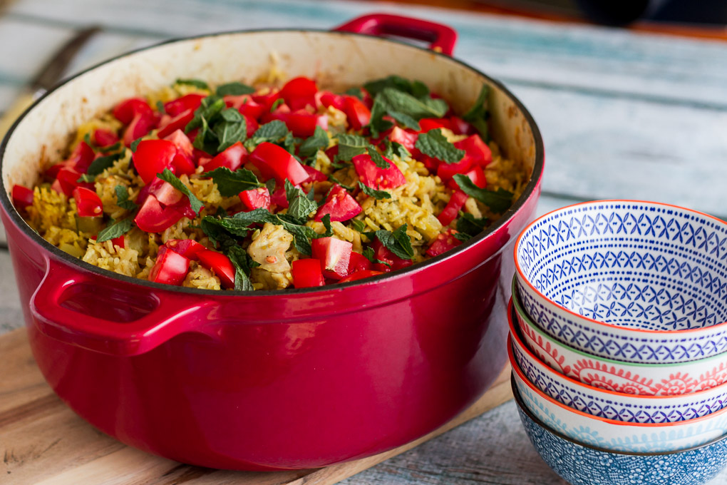 Curried Chicken and Vegetable Pilaf-5