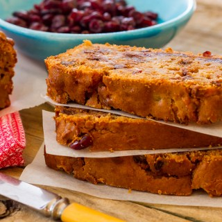 Apple, Cranberry, And Dark Chocolate Loaf