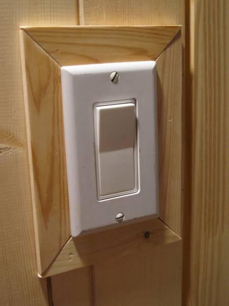 Wood Trim around the Light Switch
