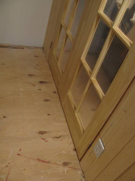 glass closet doors and trim work