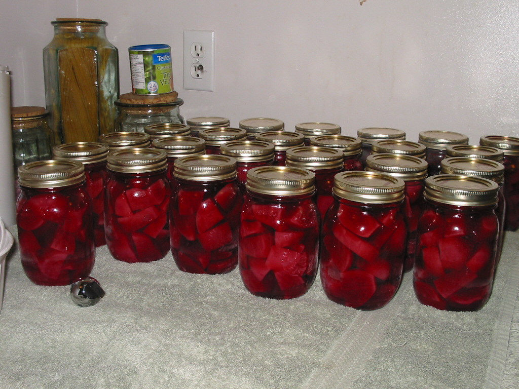 how to make and preserve pickled beets, pressure canner, water bath canner