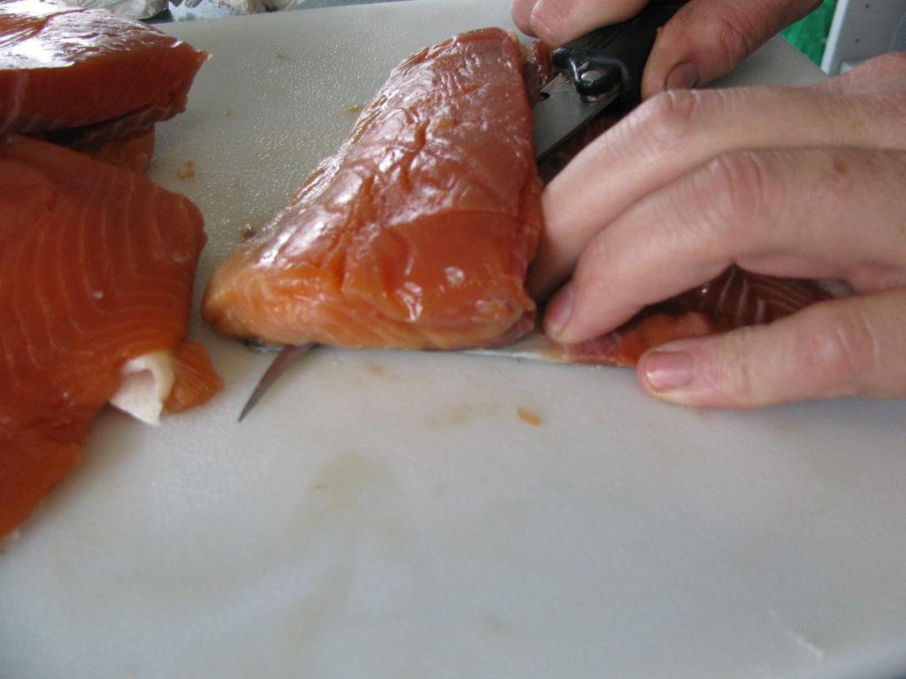 salmon, canning fish, food