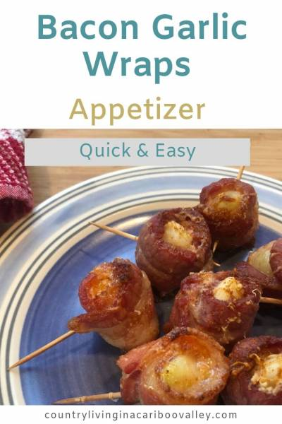 bacon wrapped garlic cloves with spices
