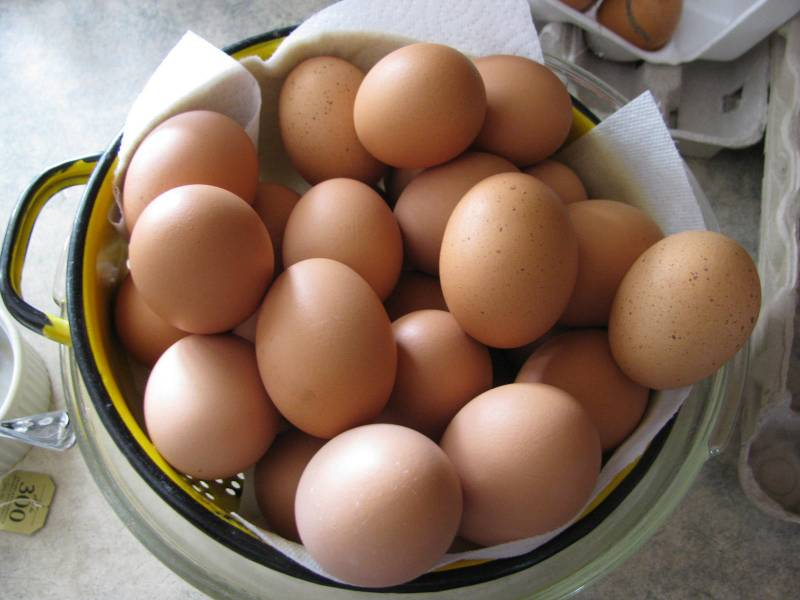 a basketful of extra eggs