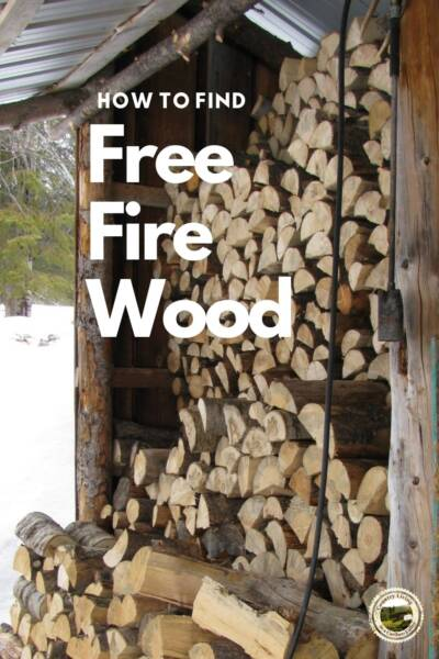 free fire wood stacked in a wood room
