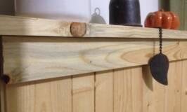 stair landing renovation, pine beetle wood, house renos