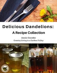 Dandelion jelly sits beside bottles of dandelion wine