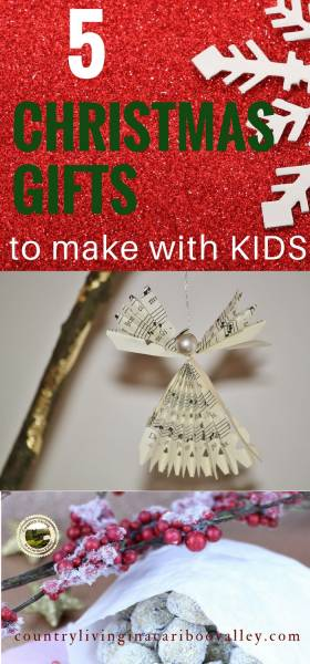 Candy and a paper angel are gifts that kids can make