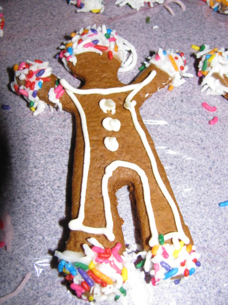 Decorated Gingerbread Men waiting to be eaten.