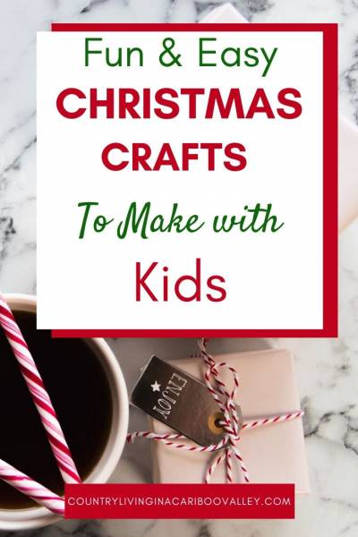 Coffee mixes and Christmas tree decorations are great ideas for gifts from kids.
