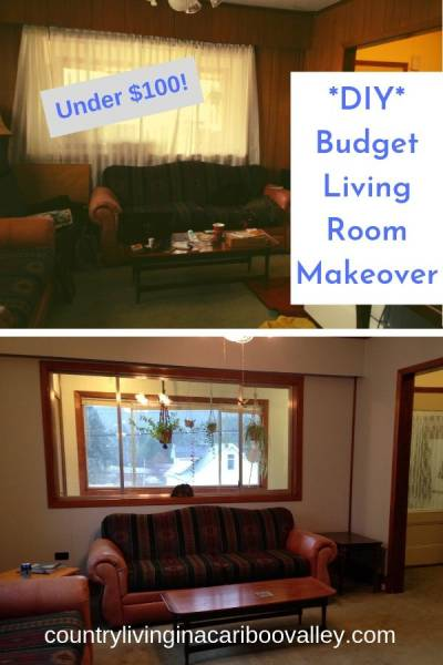 before and after photos showing paneling painted.
