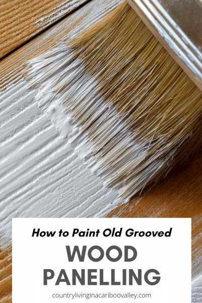 painting old wood white with a brush