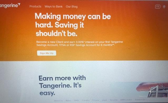 an online banking website