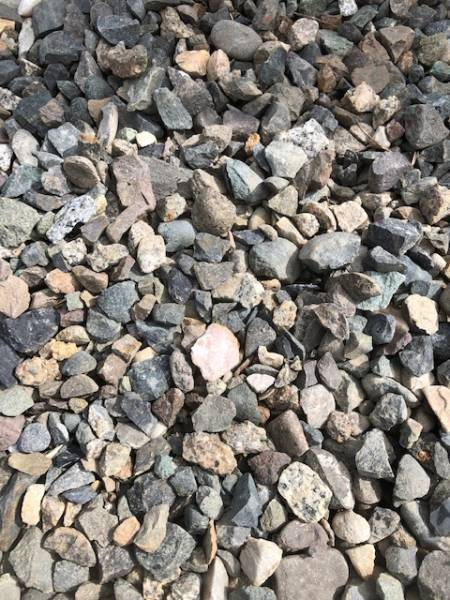 Gravel that has been crushed to build  the gravel path.
