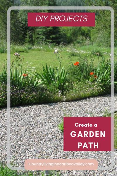 Here's a DIY weekend landscape project. Build a garden pathway. Great for side yards and soggy wet yards too. Fix your yard with a path. #DIYgardenproject #gardenpaths #gardenwalkways #entrypath #frontyard #backyard
