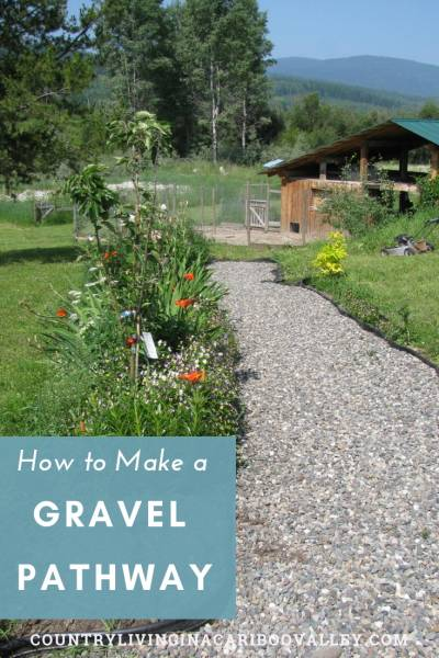 How to make a gravel path for your yard. DIY garden walkway project. A path for the front yard or a garden path for the backyard. Landscaping DIY project for side yards. Step by step instructions. #path #garden #walkways #sideyards #landscaping